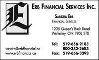 Erb Financial Services Inc